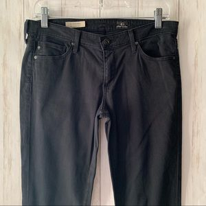 Ag Adriano Goldschmied Jeans - AG The Stevie Ankle Slim Straight Black Jeans 28